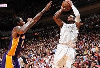 1º LA Lakers vs Miami Heat, Wade descansa hoy por 4ª vez consecutiva