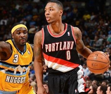 2º Denver Nuggets vs Portland Trail Blazers, Lillard vs Lawson