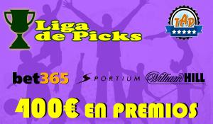 Liga de Picks con 400€ en premios al compartir tus pronósticos en nuestro foro