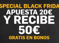 #BlackFriday con nosotros y Betfair. Apuesta 20€ y te regalan 50€